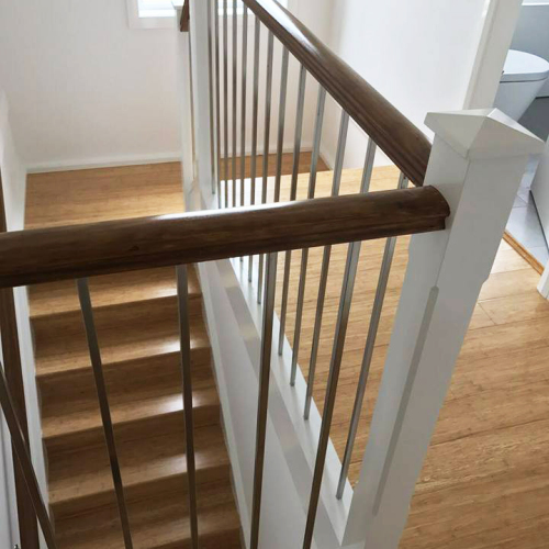 Natural Staircase - Tanoa Flooring - 14mm Strand Woven Bamboo | Advanced Flooring Services
