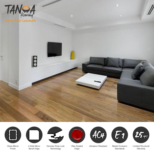 TANOA Flooring - 12mm Gloss Laminate