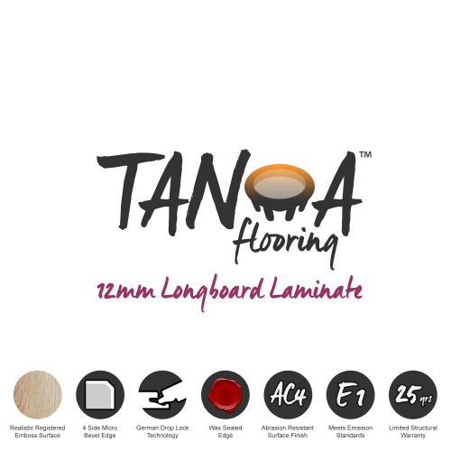 TANOA Flooring - 12mm Longboard Laminate