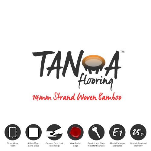 TANOA Flooring - 14mm Strand Woven Bamboo