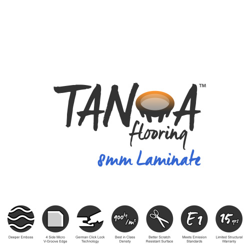 TANOA Flooring - 8mm Laminate